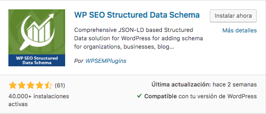 plugin wp datos estructurados