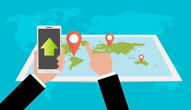 mapa web bienes raices