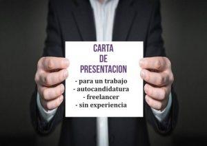 ejemplo carta de presentación para un trabajo